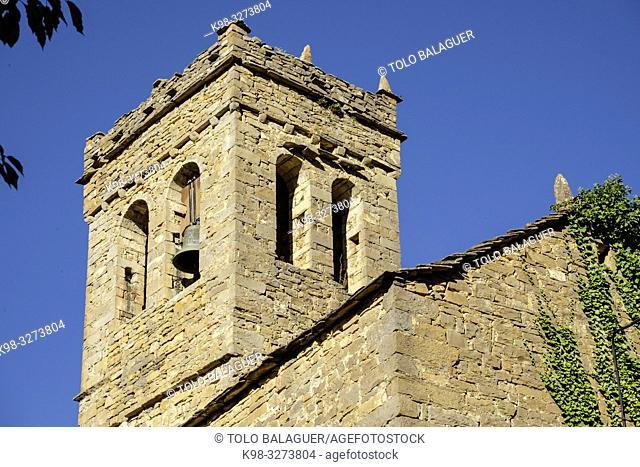 iglesia de la Virgen de la Asunción, siglo XII, Asín de Broto ,municipio de Broto, Sobrarbe,Huesca, Aragón, cordillera de los Pirineos, Spain