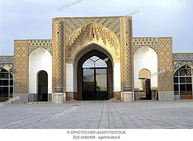 Iran. Kerman- Emam Mosque showing honey-comb decoration on facade