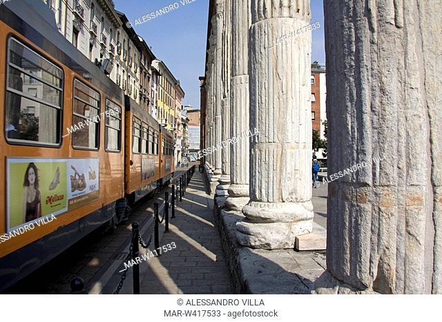 colonne di san lorenzo, milan, lombardia, italy