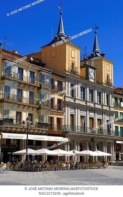 Main Square, Town Hall, Segovia, Castilla-Leon, Spain