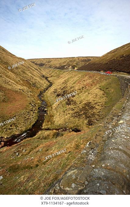 a57 road snake pass peak district derbyshire england uk