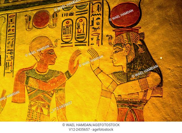Tomb of Prince Khaemwaset, the fourth son of Ramesses II 1279-1213 BC