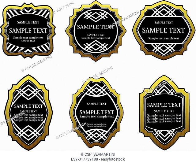 Set of golden labels