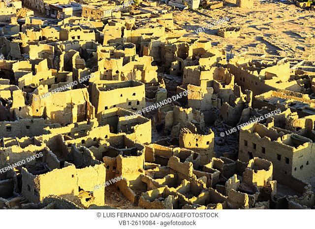 Ruins of Shali citadel in Siwa oasis, Egypt