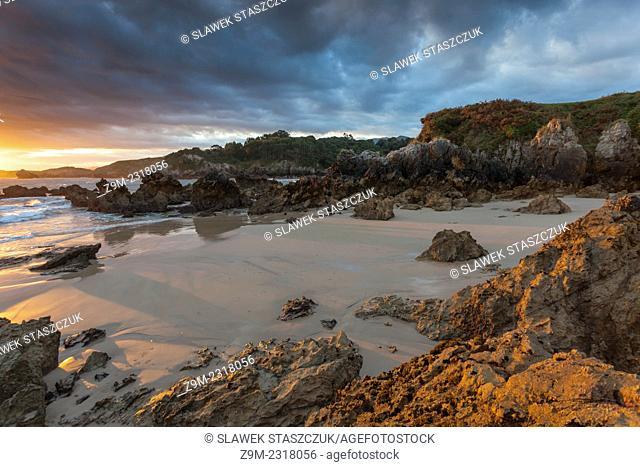 Sunrise at Playa Toranda, Niembro, Llanes, Asturias, Spain