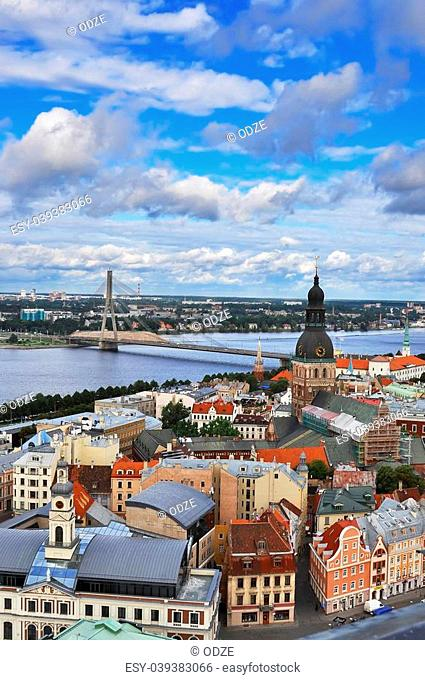 Panorama of Riga, the capital of Latvia