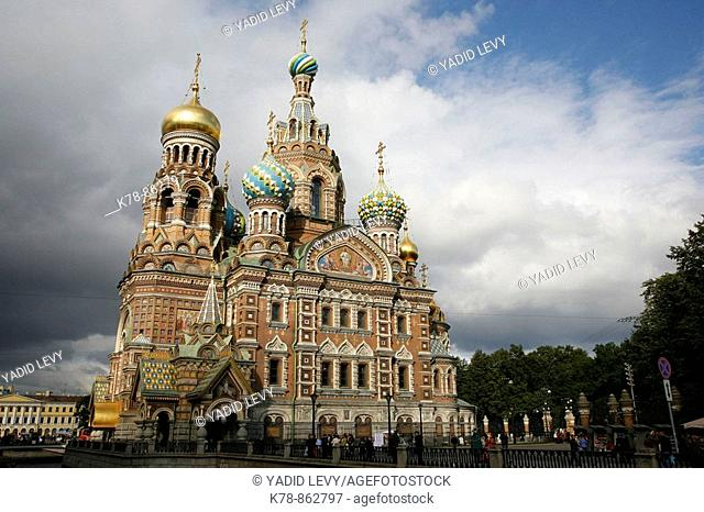 The Church on Spilled blood, St  Petersburg, Russia