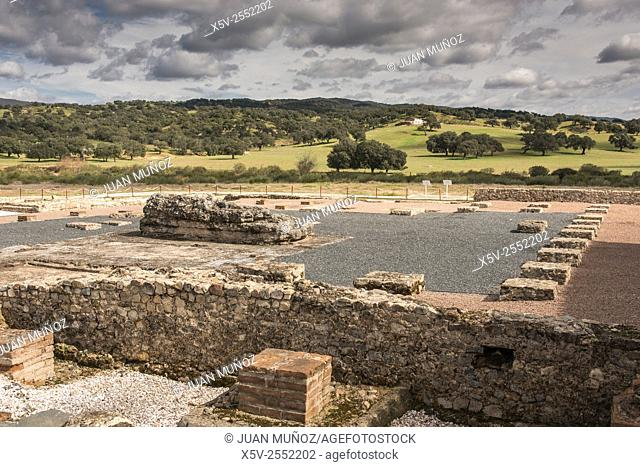 Roman Ruins Turóbriga. Aroche. Huelva. Andalusia. Spain. Natural Park of Aracena and Picos de Aroche