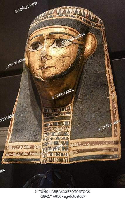 Ptolemaic mask (330-30BC). Egyptian Pharaonic collection. Louvre Museum. Paris. France