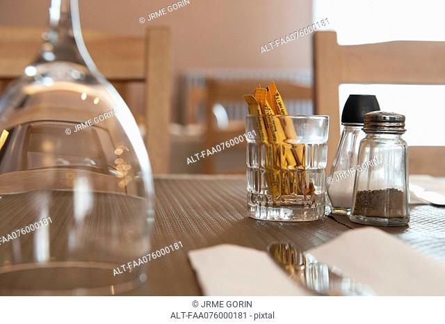 Place setting, selective focus