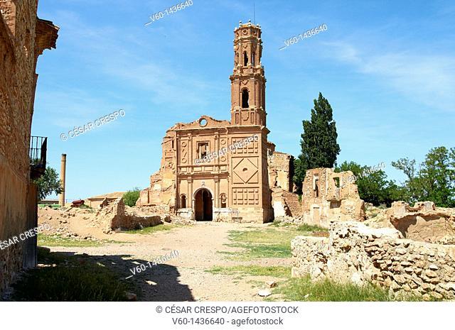 -Destroyed Church, Belchite's Ruins- Spanish Civil War