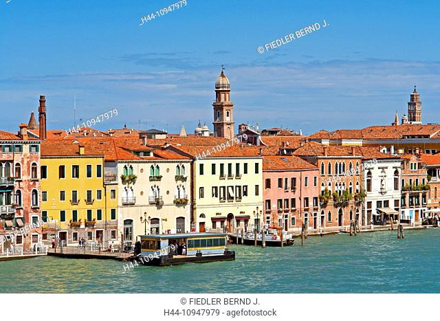 Europe, Italy, IT, Veneto, Venice, Fondamenta Zattere al Ponte Longo, ferry, ferryboat, San Basilio, architecture, vehicles, vessels, buildings, harbour, port