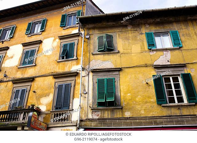 Facade of a building in Pisa, Tuscany, Italy