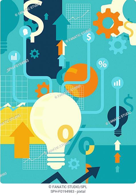Illustration of business idea