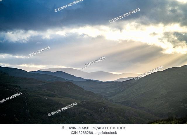 A beautiful landscape image of land near Loch Ness in Scotland, United Kingdoms