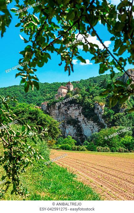 Saint-Cirq-Lapopie, member of the Les Plus Beaux Villages de France (The most beautiful villages of France) association in Lot, south-western France