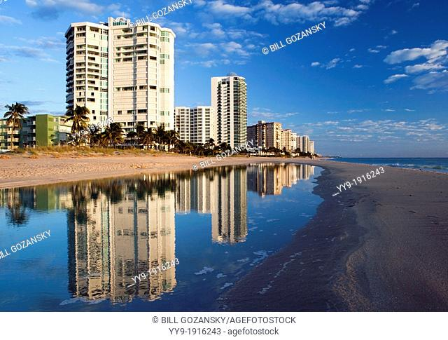 Beach Reflections - Lauderdale-by-the-Sea, Florida USA