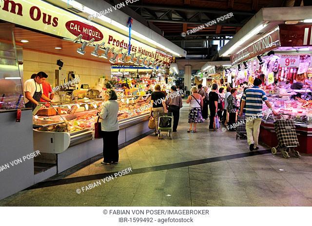Stall in the Mercat de Santa Caterina Market, Barcelona, Spain, Iberian Peninsula, Europe