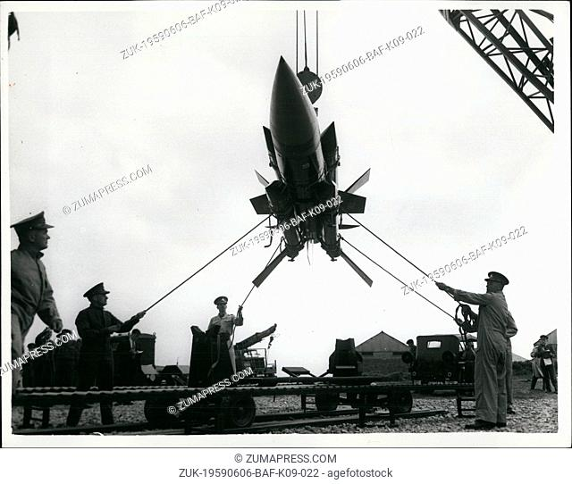 Jun. 06, 1959 - 'Thunderbird' at surface to air weapon system demonstration: Troops were to be seen operating but not actually firing the Thunderbird