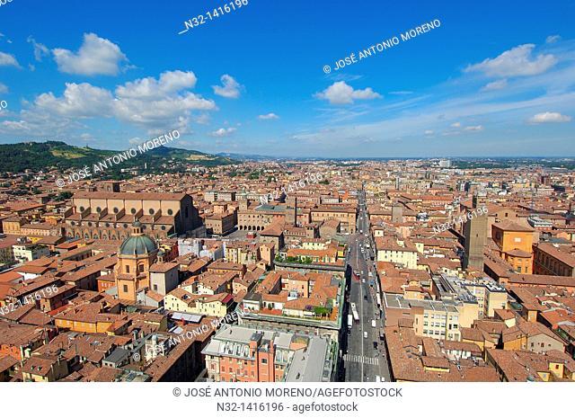 Bologna, Aerial view, Emilia Romagna, Italy, Europe