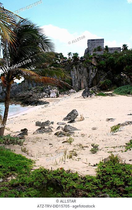 EL CASTILLO & BEACH; TULUM, MEXICO; 03/03/2011