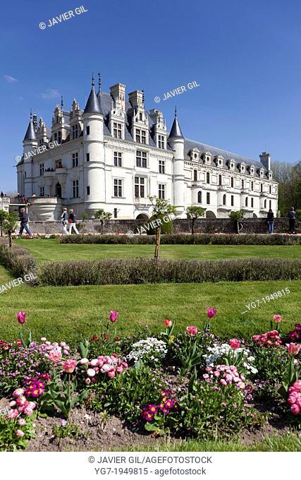 Chenonceaux castle, Indre et Loira, Centre, France