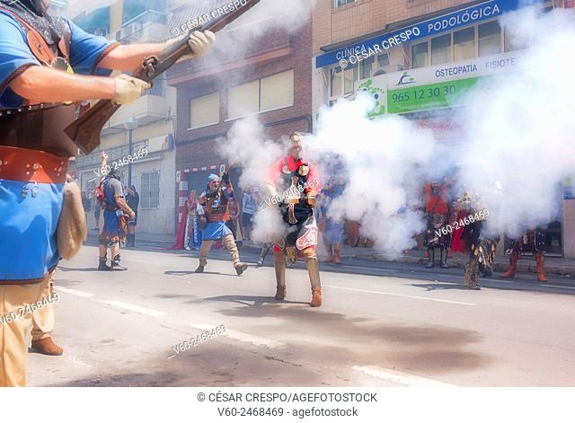 """Traditions and Festivities of """"""""Moros y Cristianos"""""""". 13th of July 2015. Alicante (Spain)"""