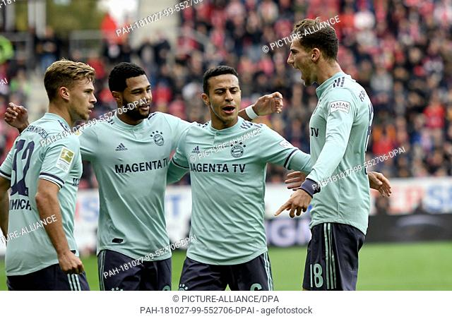 27 October 2018, Rhineland-Palatinate, Mainz: 27 October 2018, Germany, Mainz: Soccer: Bundesliga, FSV Mainz 05 - Werder Bremen, 10th matchday in the Opel Arena