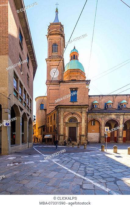 Bologna,Emilia Romagna,Italy View of church Santi Bartolomeo