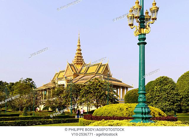 Cambodia, Phnom Penh, the Royal Palace, residence of the King of Cambodia, built in 1860
