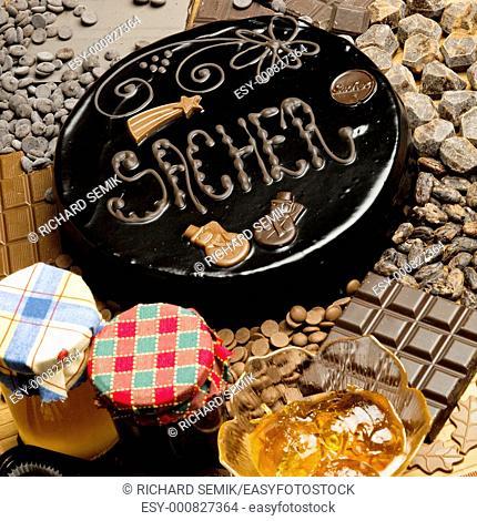 Sacher cake''s still life