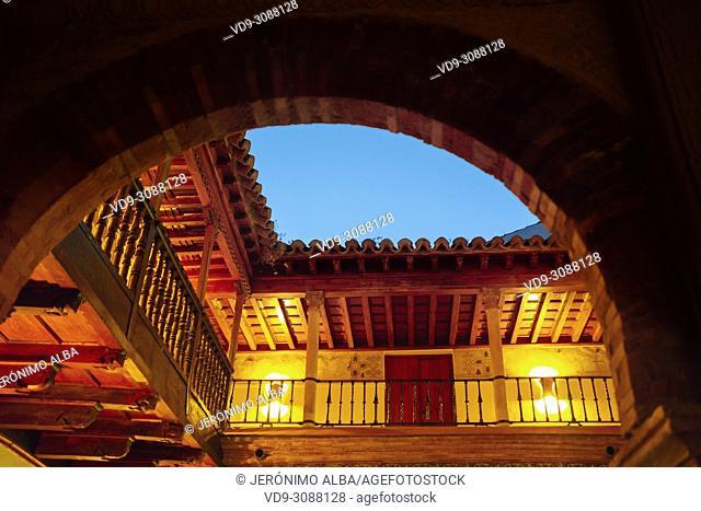Palacio de Mondragon at dusk. Monumental city of Ronda. Malaga province Andalusia. Southern Spain Europe
