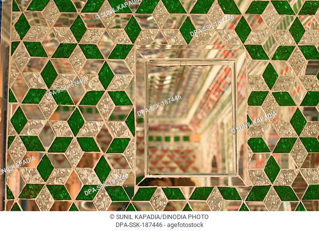 mirror wall Patwon Ki Haveli Jaisalmer Rajasthan India Asia