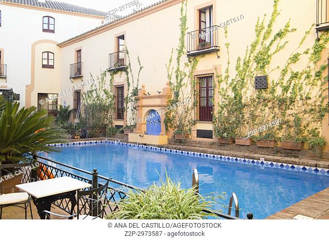 Hotel Alcazar de la Reina in Carmona Seville, Spain. Swimming pool