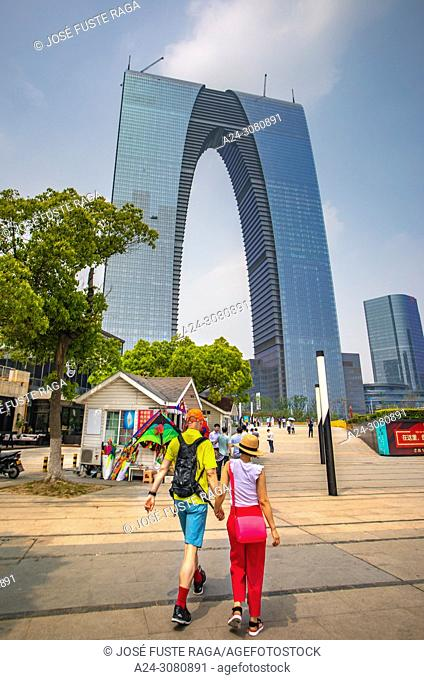 China, Suzhou city, Gate of the Orient Bldg