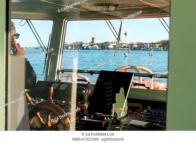 Venice, vaporetto approaching the island of Burano