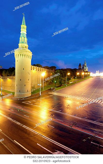 Kremlin night view, Moscow, Russia