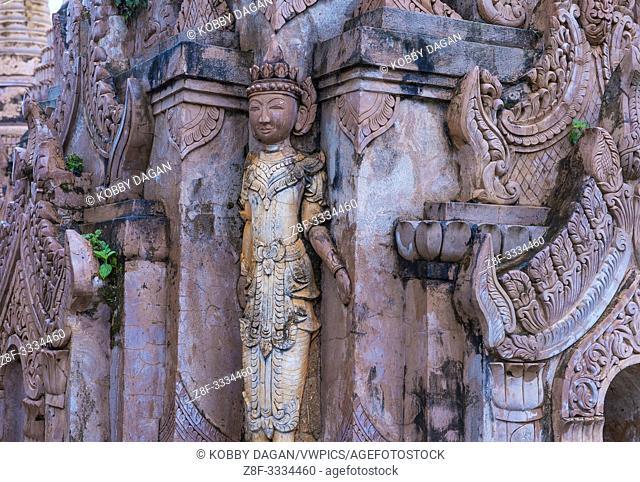 The Kakku pagoda in Shan state Myanmar