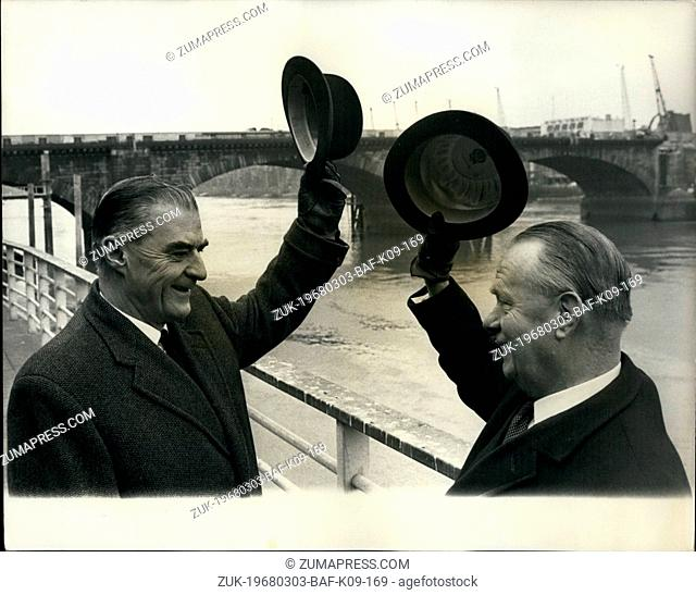 Mar. 03, 1968 - London Bridge up (or down) for sale: Mr. Ivan Luckin, a member of the City of London's Court of Common Council and Mr