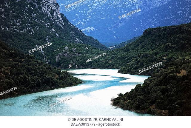 Su Gorroppu Gorge and the Flumineddu River, near Dorgali, Gulf of Orosei and Gennargentu National Park, Sardinia, Italy
