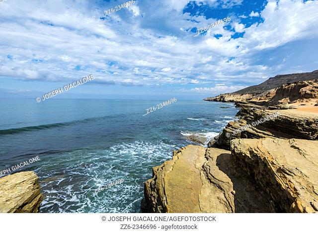 Clouds over the Pacific Ocean. View from above the Point Loma tide pools. San Diego, California, United States
