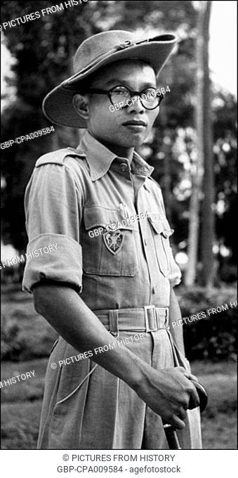 Vietnam: General Nguyen Van Thanh, commandetr of the Republic of Vietnam Cao Dai army 1948-1954
