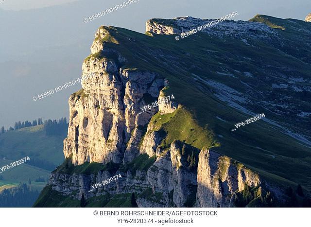 mountain landscape Sieben Hengste, Niederhorn, Bernese Oberland, Switzerland
