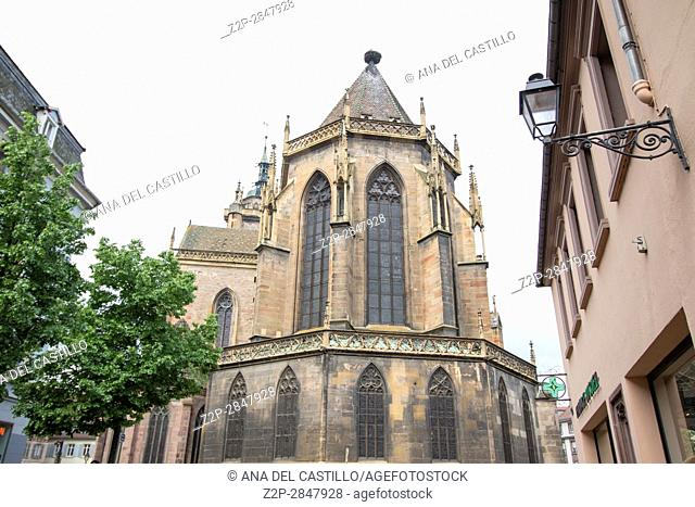 Cathedral of St Martin on May, 14, 2016 in Colmar Alsace France