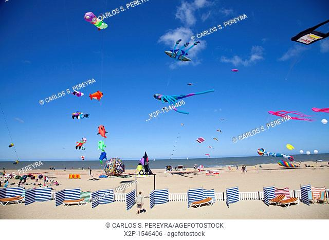 International Kite Festival in Ostend, Belgium, Europe