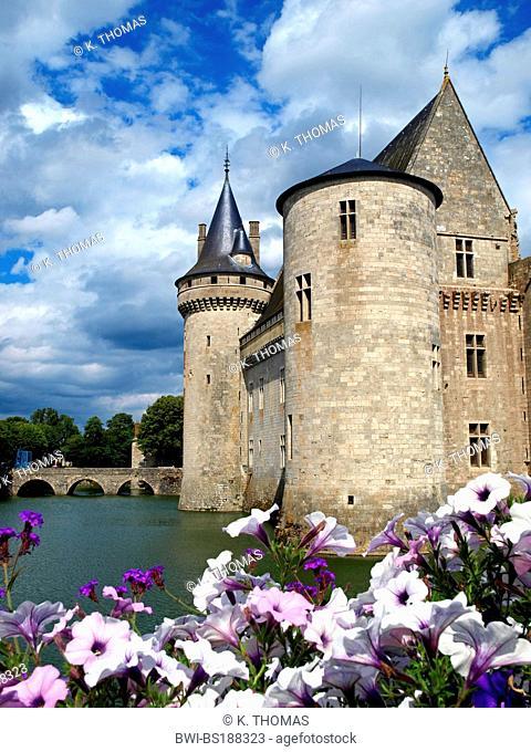 Chateau de Sully sur Loire, château of the Loire Valley, France, Loire