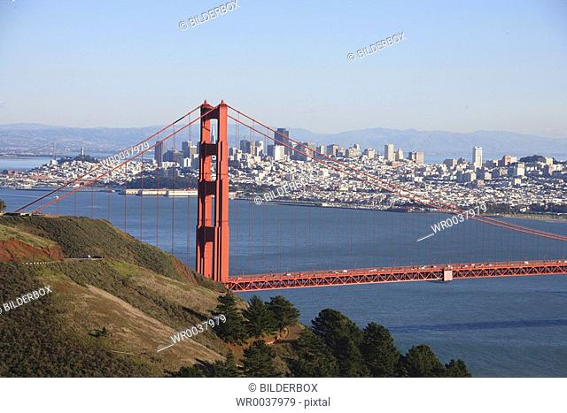 The USA, California, San Francisco, golden gate Bridge