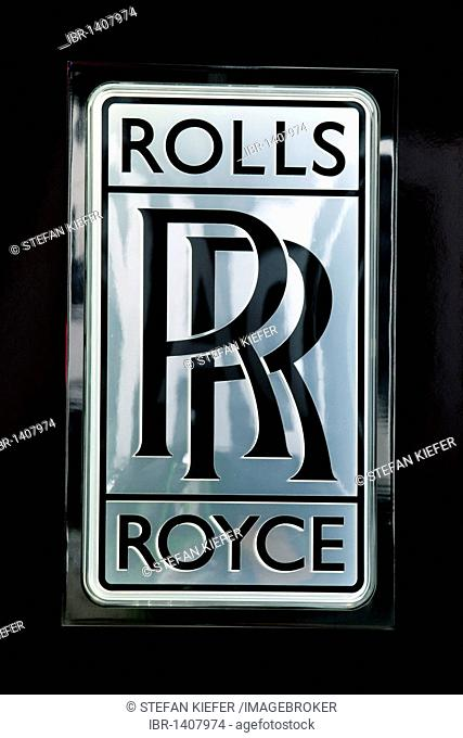 Logo of the Rolls-Royce auto maker, which is part of the BMW Group, at the 63. Internationale Automobilausstellung International Motor Show IAA 2009 in...