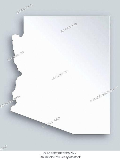 Karte von Arizona