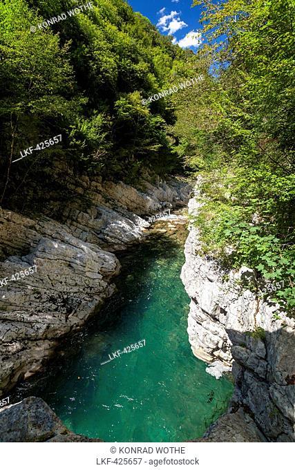 Calore Gorge, Cilento National Park, Cilento, Campania, Southern Italy, Europe